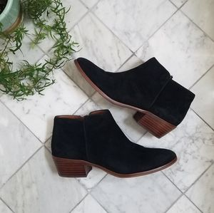 Sam Edelman Petty Ankle Boots Black Suede